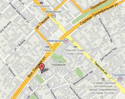 Карта проезда, клуб Б2. mapb2.